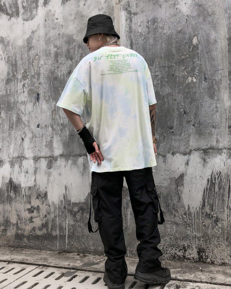 《2色》マーブルタイダイエンジェルTシャツの画像9